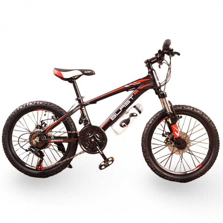 Горный подростковый Велосипед S300 BLAST-БЛАСТ 20 дюймов Чёрно-Красный