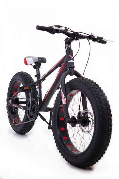 """Фэтбайк Горный велосипед """"S800 HAMMER EXTRIME"""" Колёса 20''х4,0. Алюминиевая рама ''  красный"""