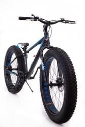 """🎁Фэтбайк-Горный велосипед """"S800 HAMMER EXTRIME"""" Колёса 24''х4,0. Алюминиевая рама 14'' синий"""