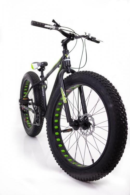 """Фєтбайк-Гірський велосипед """"С 800 ХАМЕР ЭКСТРИМ"""" колеса 26 ' ' х 4,0. Алюмінієва рама 17 ' ' чорно-зелений."""