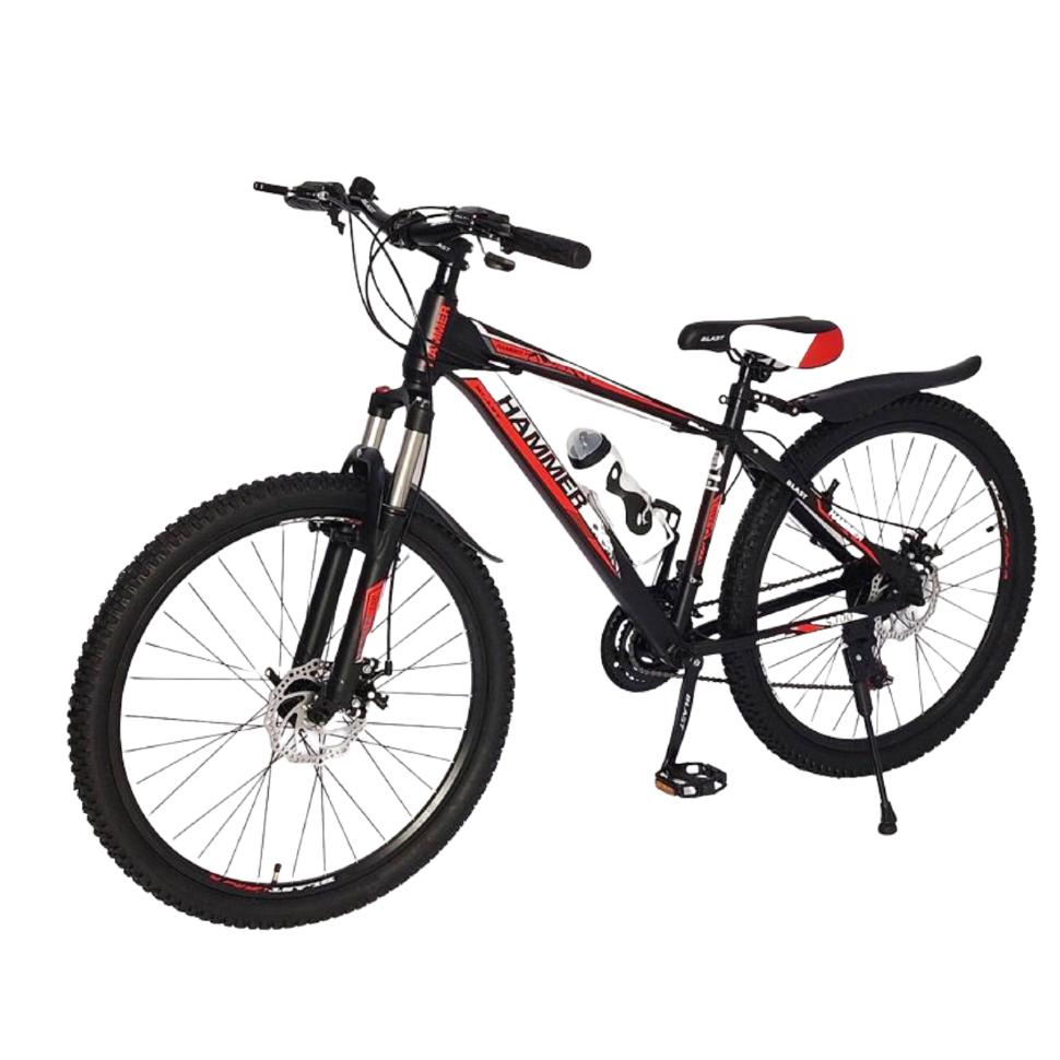 Горный Подростковый Велосипед S300 BLAST-БЛАСТ 26'' Чёрно-Красный