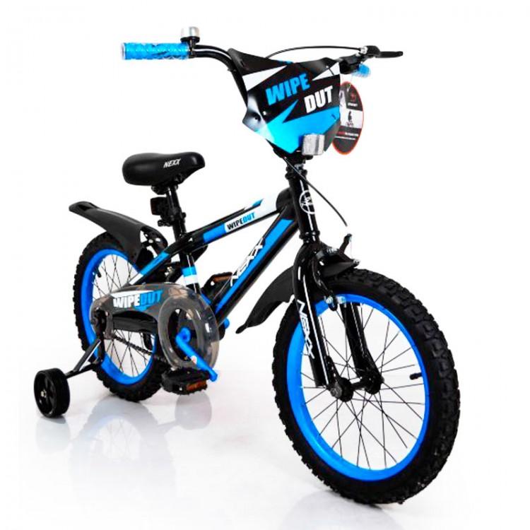 Велосипед NEXX BOY -16  чорно-блакитний