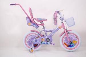 Дитячій велосипед рожевий для дівчинки від 4 років 14 дюймів ICE FROZEN Крижане Серце Анна і Єльза