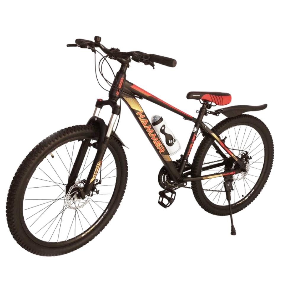 Горный Подростковый Велосипед S300 BLAST-БЛАСТ 26'' Чёрно-Оранжевый