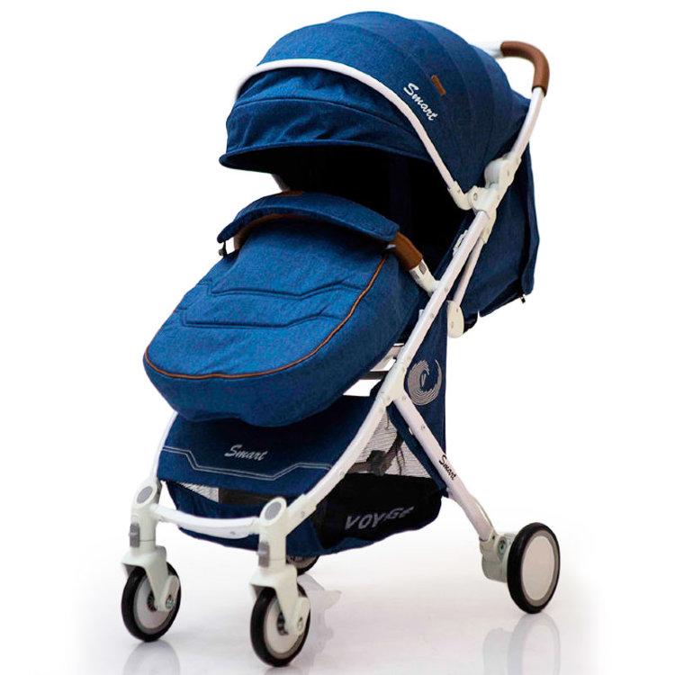 Дитяча коляска смарт-модель D289  синій джинс