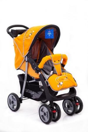 Детская прогулочная коляска Sigma K-038F Желтая