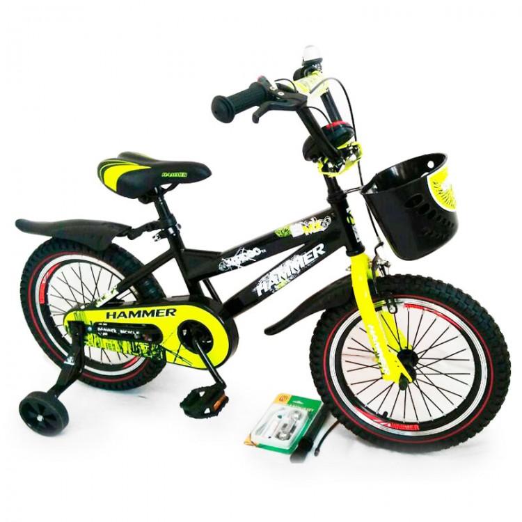 """Велосипед з ручкою """"HAMMER-16"""" S600 +Насос+Рем.коплект"""