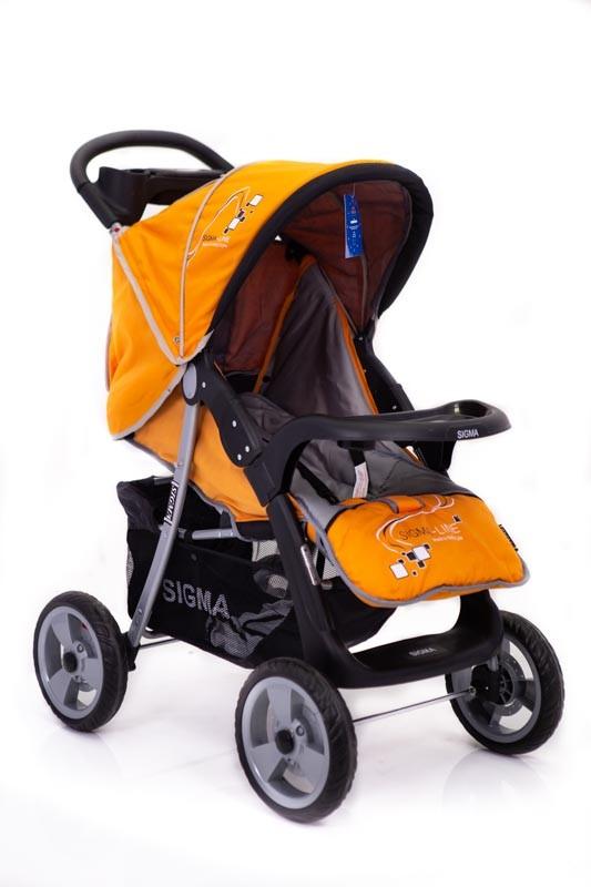 Детская прогулочная коляска Sigma K-038F-2 Желтая