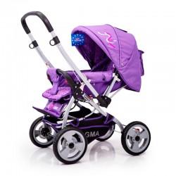 Детская коляска с перекидной ручкой Sigma H-538EF Фиолетовая