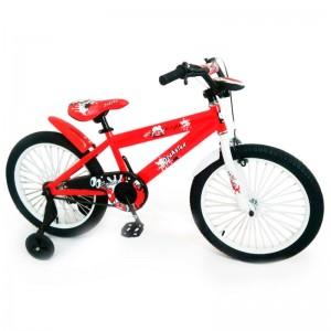 Детский Велосипед от 8 лет 20 N-300 Красный с страховочными колесами