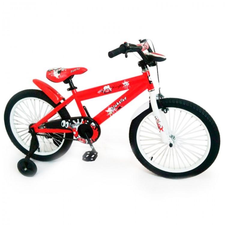 Дитячій Велосипед від 8 років 20 N-300 Червоний з домоміжними колесами