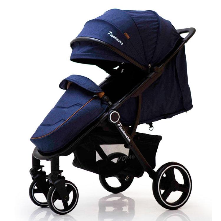 Дитяча коляска Panamera C689 синій (чорний)