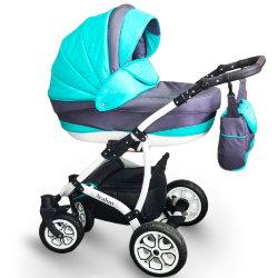 Детская коляска 2 в 1 AVALON Grey-Blue