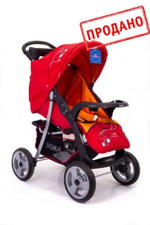 Детская прогулочная коляска Sigma K-038F-2 Красная