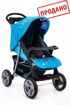 Дитячій візочок Sigma K-038F-2 Блакитна