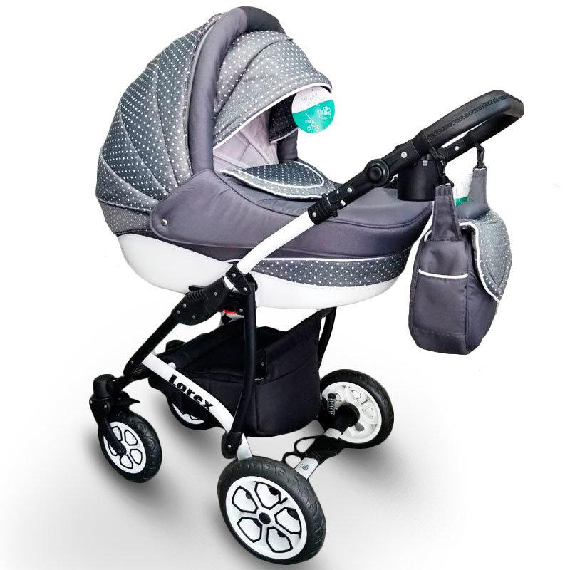 "Baby Stroller 2 in 1 ""Lorex"" Grey"