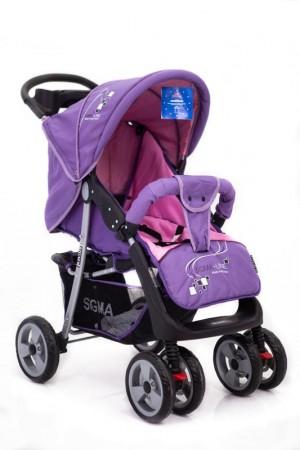 Детская прогулочная коляска Sigma K-038F Фиолетовая