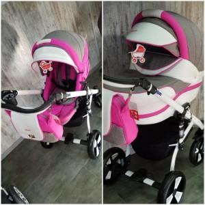 """Детская коляска 2 в 1 """"MACAN"""" Grey-Pink"""
