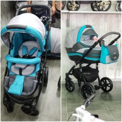 """Детская коляска 2 в 1 """"MACAN"""" Grey-Blue"""