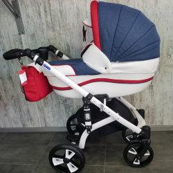 """Детская коляска 2 в 1 """"MACAN"""" Blue-red"""