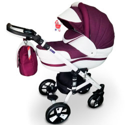 "Детская коляска 2 в 1 ""MACAN"" Purple-White"