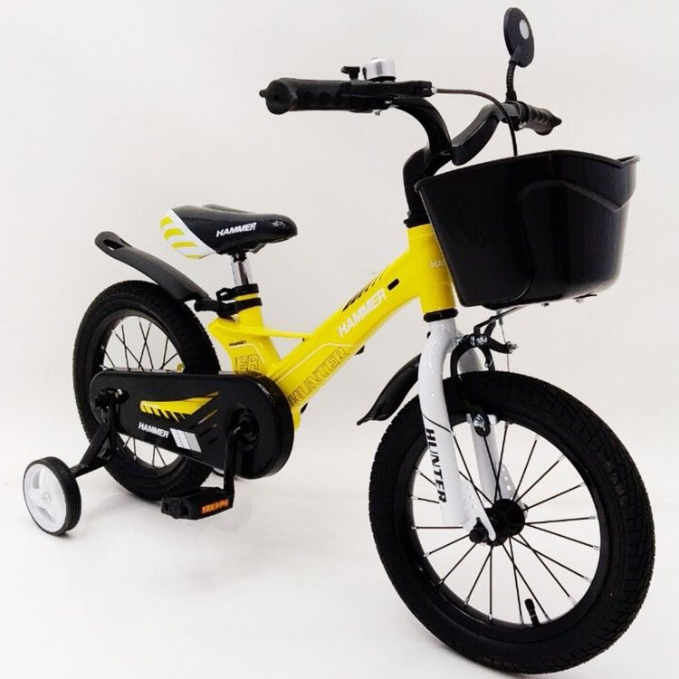 HAMMER HUNTER-1450D Yellow Children's Bike with magnesium frame lightweight basket