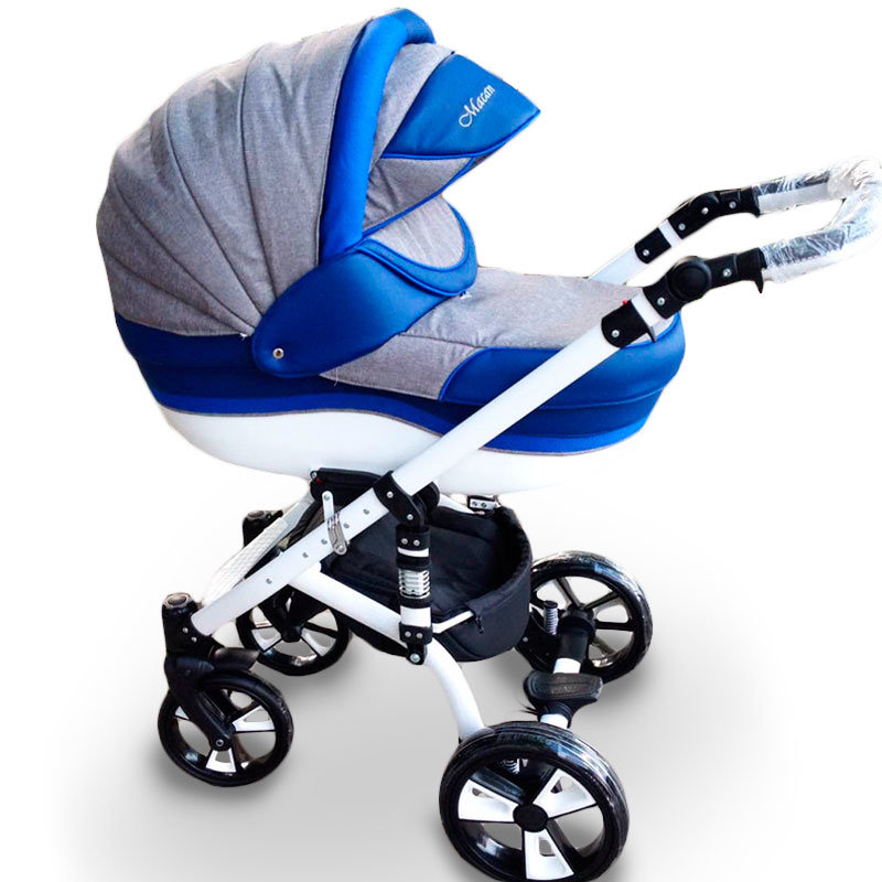 "Baby Stroller 2 in 1 ""MACAN"" Grey-Blue 2"
