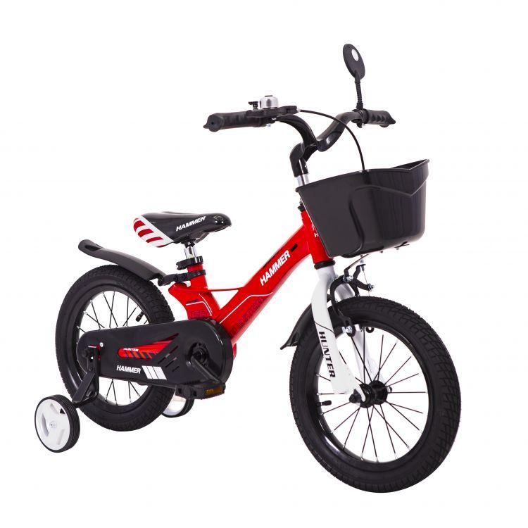 HAMMER HUNTER-1450D червоний дитячий велосипед з магнієвою рамою легкий з кошиком