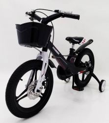 HAMMER HUNTER-1650G Black Children's Bike with basket, magnesium frame, lightweight