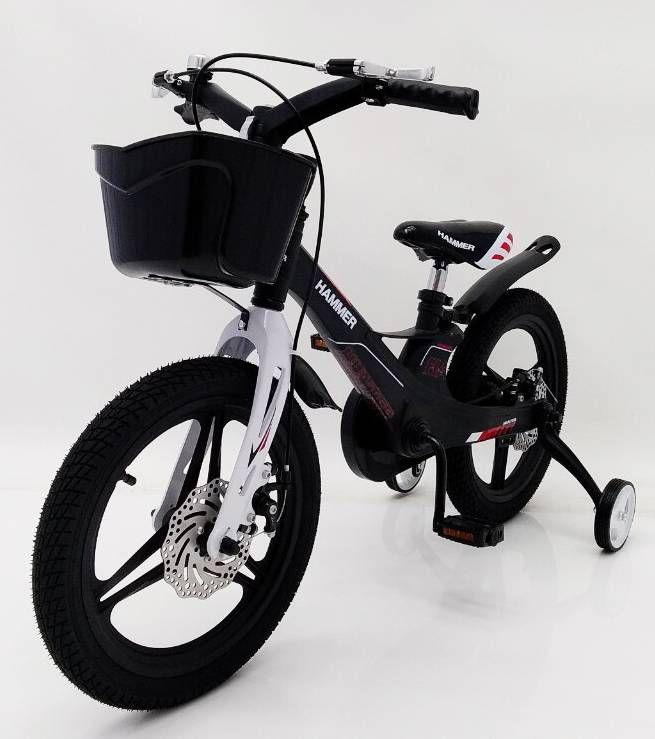 HAMMER HUNTER-1650G Black Children's Bike with basket, magnesium frame, lightweight