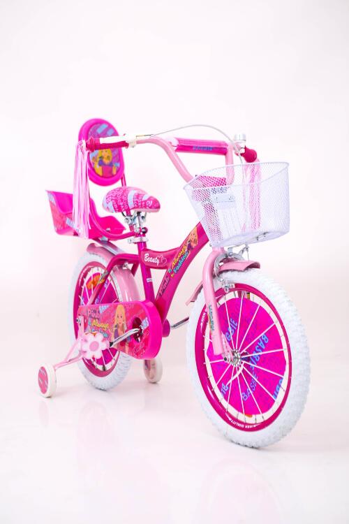 """Рожевий Велосипед для дівчинки від 7 років """"BARBIE-18"""" Барбі з багажніком для ляльки та допоміжними колесами"""