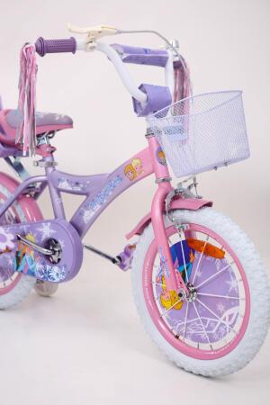 ❤❄Велосипед для дівчинки фіолетовий 16 дюймів Ice Frozen Крижане Серце Анна та Єльза з кошиком від 5 років