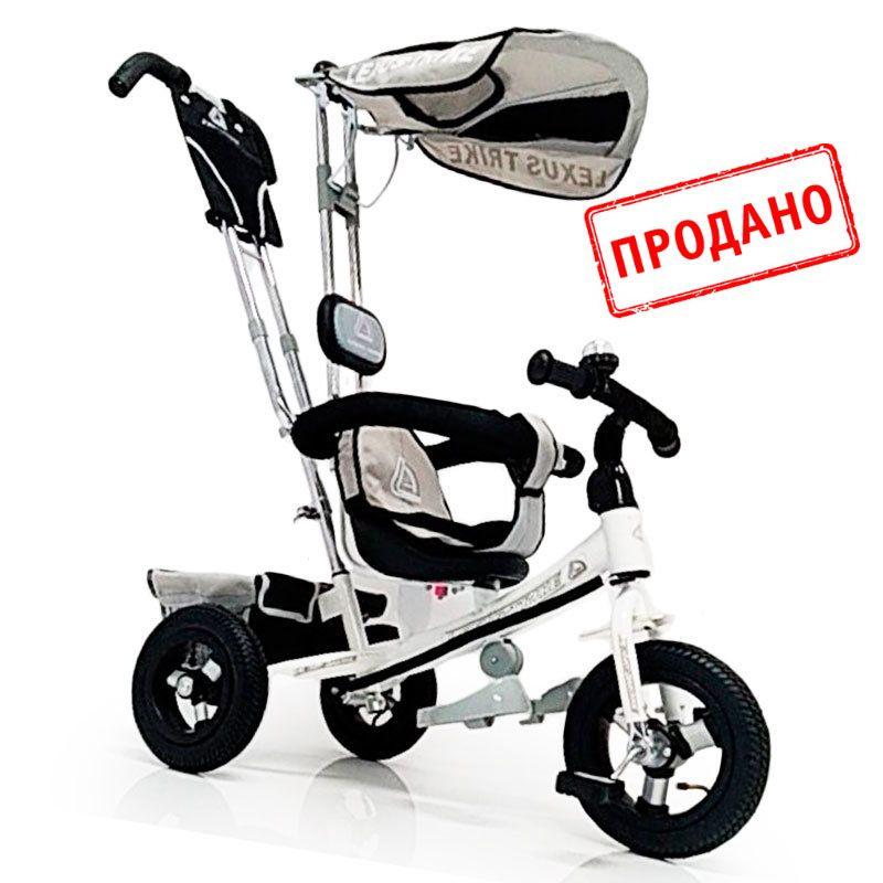 Велосипед трехколесный WS-862AW Надувные колеса 12\10, Белый