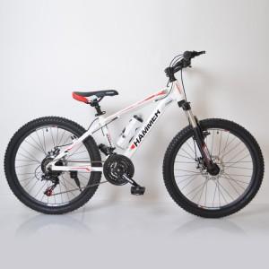 Гірський Підлітковий Велосипед HAMMER-24 білих червоних