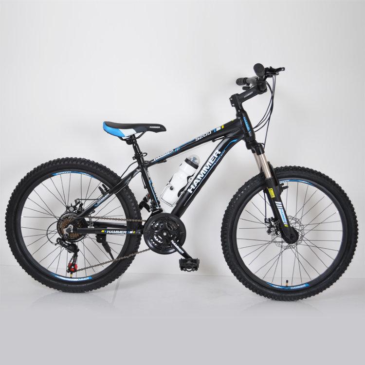 Гірський підлітковий Велосипед HAMMER-24 чорний синій
