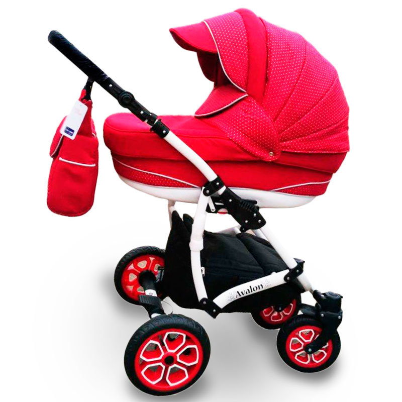 Baby Stroller 2 in 1 AVALON red