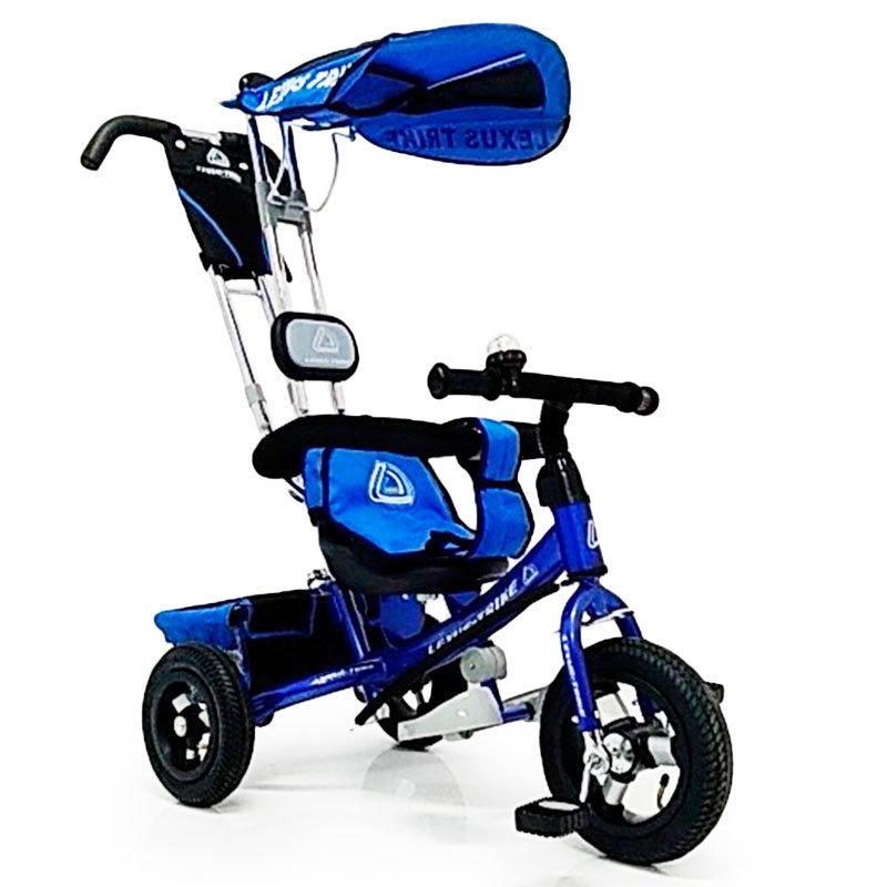 Велосипед триколісний WS-862AW надувні колеса 12 \ 10, синій