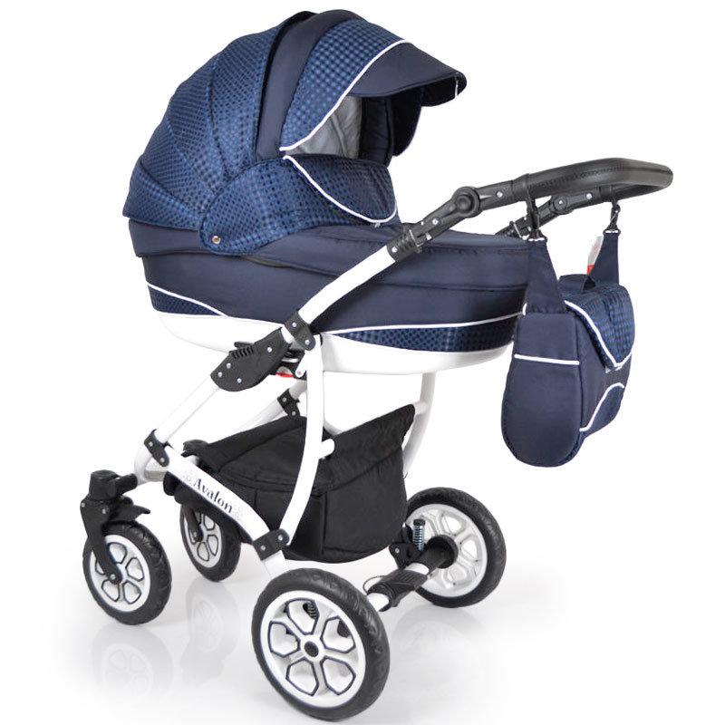Детская коляска 2 в 1 AVALON Blue