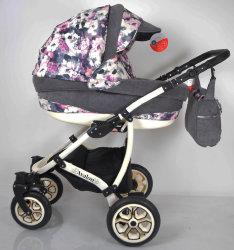 Детская коляска 2 в 1 AVALON Grey Flower
