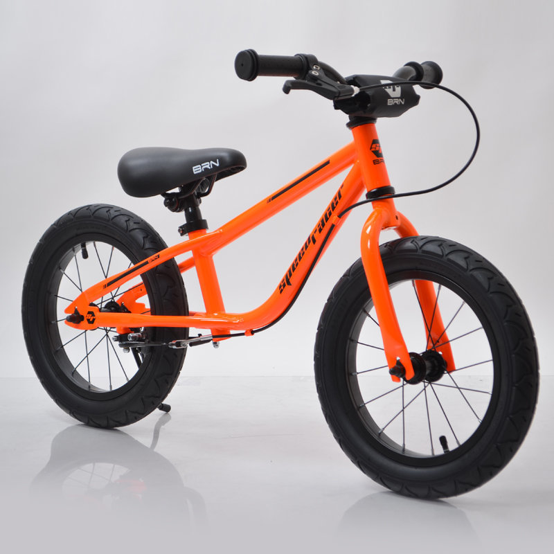 "Беговел 14""(BRN)B-2 Orange Air wheels"