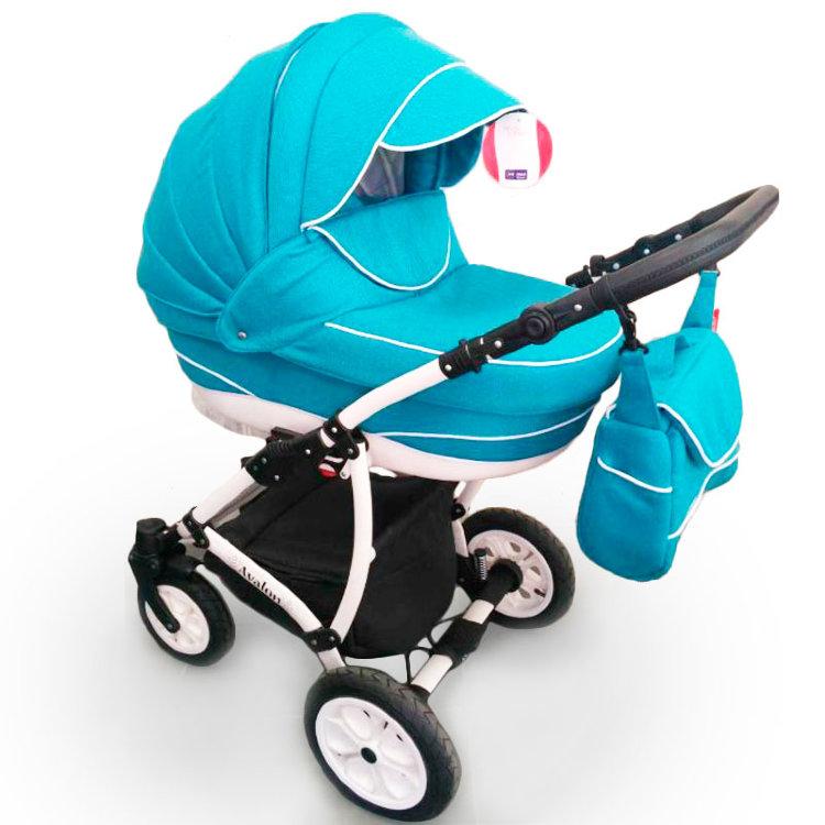 Дитяча коляска 2 в 1 Авалон бірюзовий