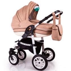 Детская коляска 2 в 1 Baby Marlen капучино