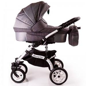 Дитяча коляска 2 в 1 Sherry Lux  сіра