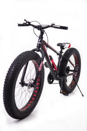 """Фэтбайк-Горный велосипед""""S800 HAMMER EXTRIME"""" Колёса 24''х4,0. Алюминиевая рама 14'' Черно-Красный"""