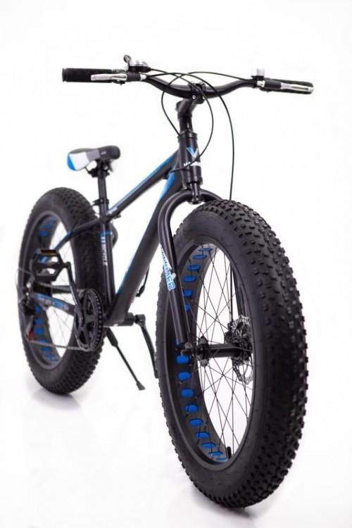 """Фэтбайк-Горный велосипед """"S800 HAMMER EXTRIME"""" Колёса 26''х4,0. Алюминиевая рама 17'' Черно-Синий."""