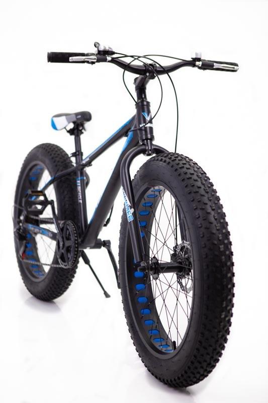 """Фэтбайк-Горный велосипед """"S800 HAMMER EXTRIME МАХ"""" Колёса 26''х4,0. Алюминиевая рама 19'' Черно-Синий."""
