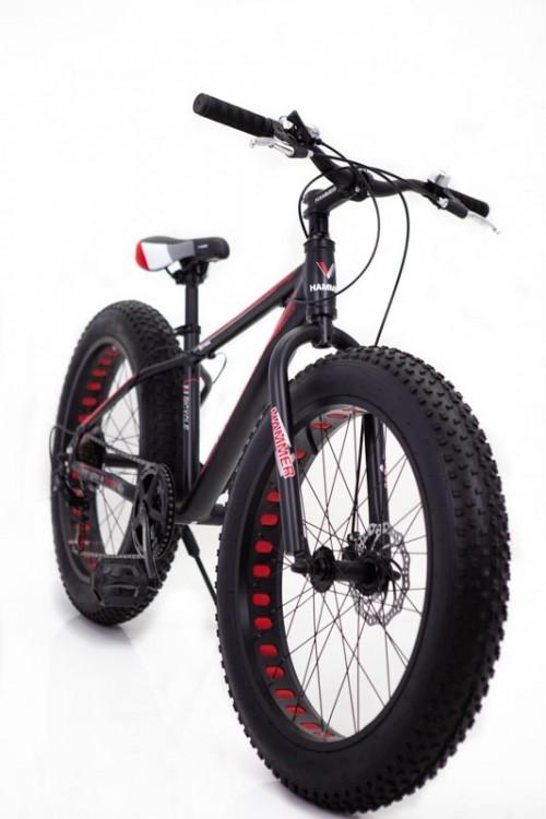 """Фєтбайк-Гірський велосипед """"С 800 ХАМЕР ЭКСТРИМ"""" колеса 26 ' ' х 4,0. Алюмінієвий каркас 17 ' ' чорно і червоний"""