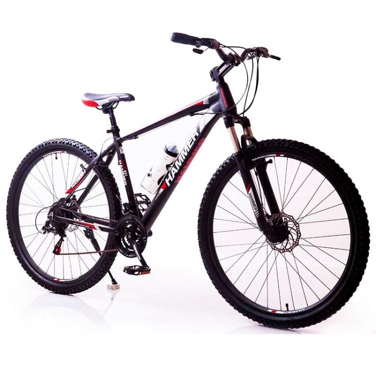 Велосипед HAMMER-29 чорний червоний