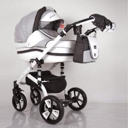 """Детская коляска 2 в 1 """"MACAN"""" White-Grey"""