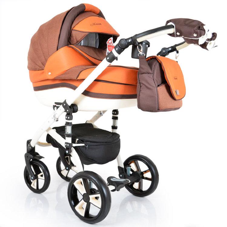 "Дитяча коляска 2 в 1 ""МАCAN"" оранжево-коричневий"